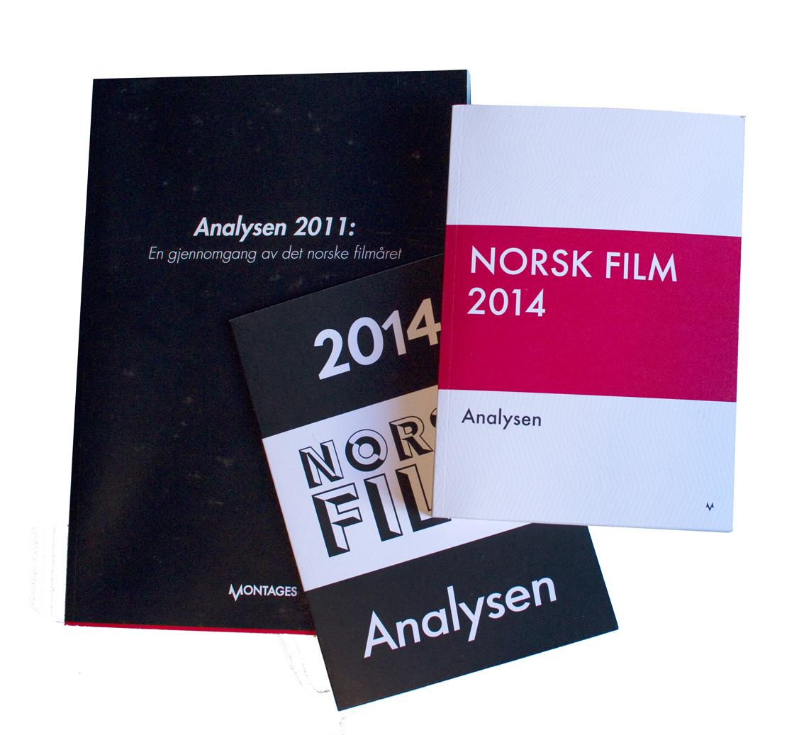 Pilotutgaver av Analysen-boken (2011-2014).