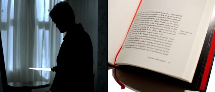 Frysbilde fra Kjersti G. Steinsbøs spillefilm «Hevn» (2015), og faksimile fra boken «Analysen – Norsk flm 2015».
