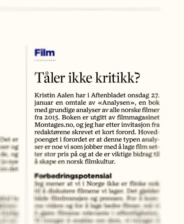 Faksimile av Ekerhovds motsvar i Stavanger Aftenblad.