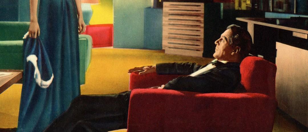 Utsnitt fra plakaten til King Vidors versjon av «The Fountainhead».