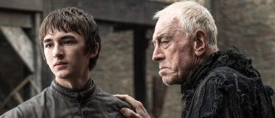 Bran Stark ( Isaac Hempstead-Wright) og Three-Eyed Raven (Max von Sydow)