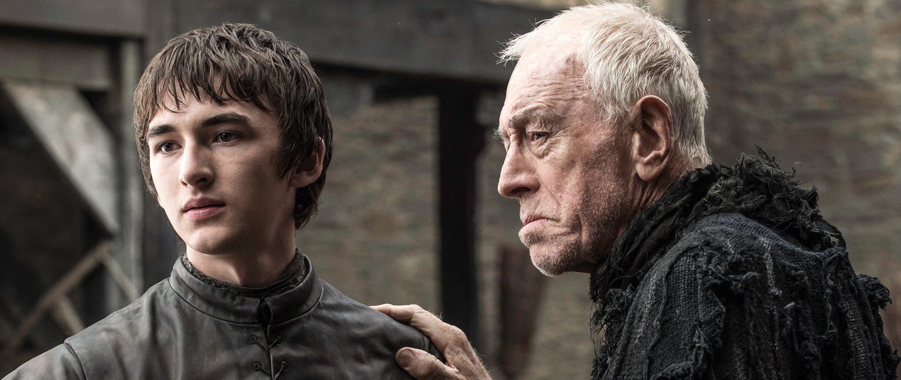 Bran Stark (Isaac Hempstead-Wright) og The Three-Eyed Raven (Max von Sydow) driver historien fremover (og bakover) – i sesong 6 av «Game of Thrones».