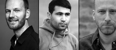 Årets Amanda-nominerte regissører, fra venstre: Joachim Trier, Halkawt Mustafa og Roar Uthaug.