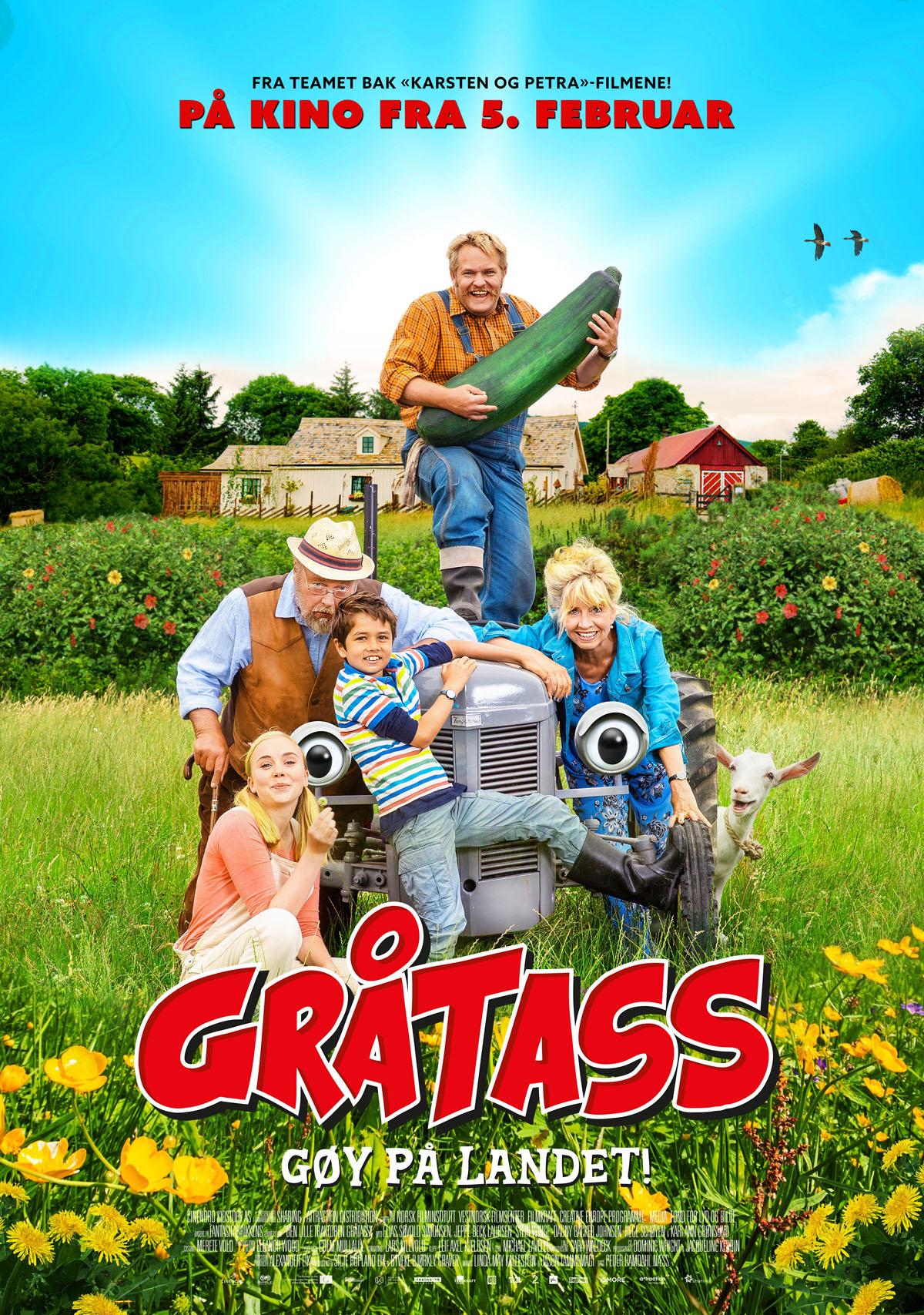 «Gråtass - gøy på landet!» – kinoplakat
