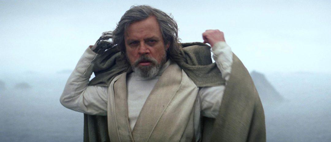 Luke Skywalker på slutten av «Star Wars: Episode VII – The Force Awakens».