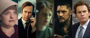 Elisabeth Moss i «Handmaid's Tale», Bob Odenkirck i «Better Call Saul», Mackenzie Davis i «Halt and Catch Fire», Tom Hardy i «Taboo» og Ewan McGregor i «Fargo».