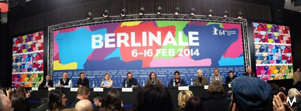Pressekonferanse etter verdenspremieren av «The Grand Budapest Hotel» under Berlinalen 2014. Foto: Truls Foss