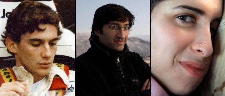 Regissør Asif Kapadia kommer til TIFF 2018. Fra venstre: «Senna», Kapadia og «Amy».