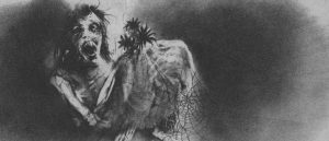 Fra «Scary Stories to Tell in the Dark» av Alvin Schwartz, illustrert av Stephen Gammell.
