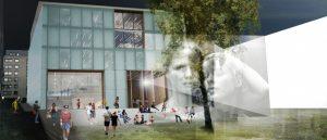 Vega Scene i Oslo åpner snart dørene med ambisjoner om å bli et nytt hjertekammer for filmformidling i hovedstaden. Her ser vi en tidlig skisse. (Foto: Arthaus)