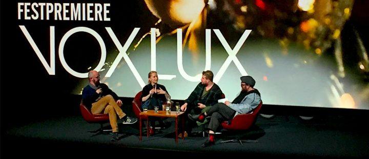 Karsten Meinich, Mona Fastvold, Brady Corbet, Lars Ole Kristiansen. (Foto: Vanja Ødegård.)