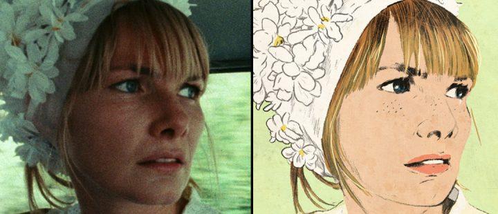 Bilde fra Barbara Lodens film «Wanda» (1970) og omslaget til Nathalie Légers roman «Suite for Barbara Loden» (2012).