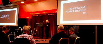 Professor Anne Gjelsvik NTNU) holdt et flammende innlegg på vegne av filmkritikken.