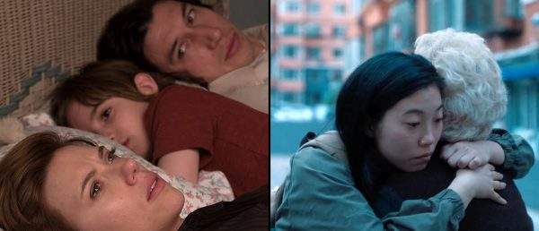 Gotham-nominerte filmer, fra venstre: Noah Baumbachs «Marriage Story» og Lulu Wangs «The Farewell».
