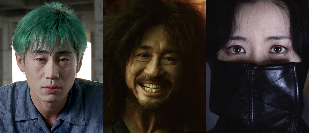 Filmene i Park Chan-wooks hevntrilogi: «Sympathy for Mr. Vengeance» (2002), «Oldboy» (2003) og «Lady Vengeance» (2005).
