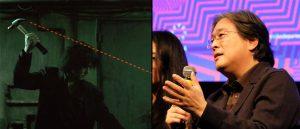 Fra venstre: «Oldboy» og Park Chan-wook, som møtte publikum i Oslo under Film fra sør 2019. (Foto: Ingvild Vaale Arnesen, Film fra sør)