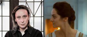 Regissør Céline Sciamma (foto: Håkon Borg/Magpie Visuals) og Noémie Merlant fra «Portrett av en kvinne i flammer» (Arthaus).