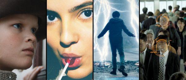 Koronarammede norske kinofilmer: «Flukten over grensen», «Alle utlendinger har lukka gardiner», «Torden» og «iHUMAN». (Bilder: Filmweb)