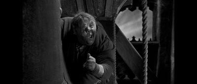 Charles Laughton som Quasimodo i «Ringeren i Notre Dame» (1939).