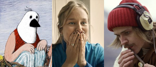 Vises på Kortfilmfestivalen 2020: «Apfelmus» (2019, Gratzer, Internasjonal kortfilm), «Kuksvanen» (2020, Heradstveit, Norsk kortfilm) og «Polyfonatura» (2019, Vatne, Norsk kortfilm).