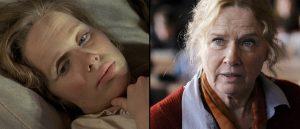 Liv Ullmann som Kristina i «Utvandrerne» (Troell, 1971) og som Åse i «To liv» (Maas, 2012).