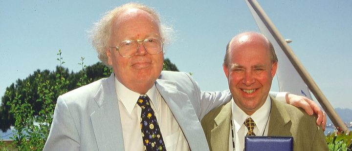 To norske Cannes-legender og gode venner: Pål Bang-Hansen (1937-2010) og Sigurd Moe Hetland. (Foto: Sigurd Moe Hetland.)