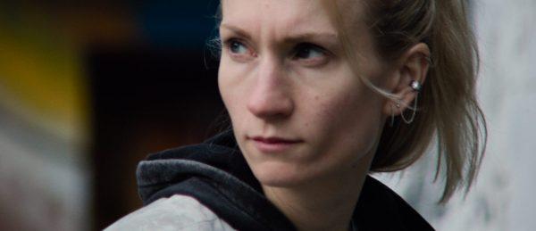 Birgitte Larsen i rollen som tittelfiguren Gritt.