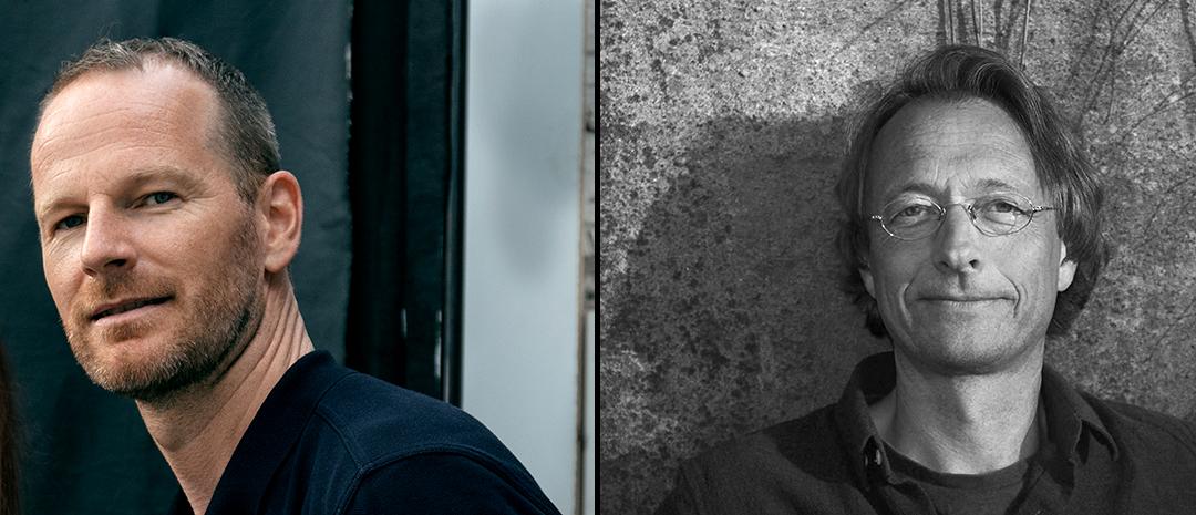 Joachim Trier og Bjørn Olaf Johannessen (Foto: Pernille Sandberg / Jacob Johannessen Maske – Oslo Pictures)