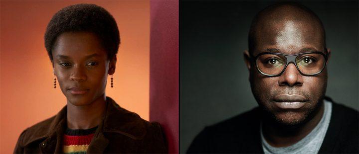 Fra venstre: Letitia Wright i «Small Axe» og regissør Steve McQueen.
