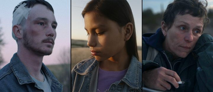 Chloé Zhaos tre filmer, fra venstre: «The Rider», «Songs My Brothers Taught Me» og «Nomadland».