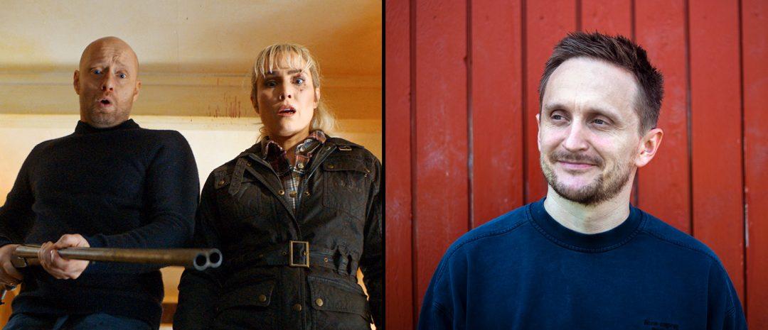 Fra høyre: Regissør Tommy Wirkola, og Aksel Hennie og Noomi Rapace i filmen «I onde dager».