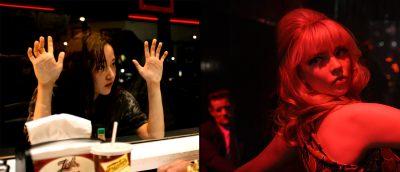 Fra venstre: «Mona Lisa and the Blood Moon» og «Last Night in Soho».