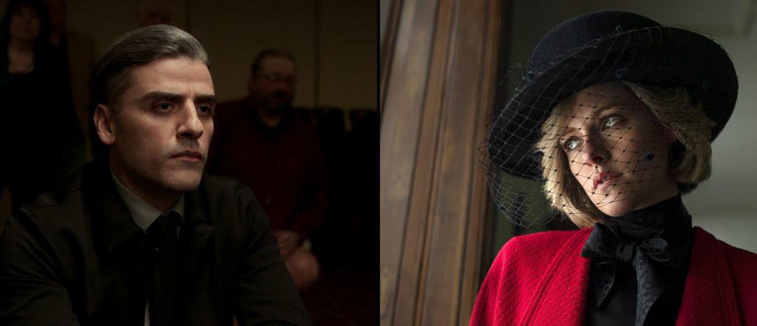 Fra venstre: Paul Schraders «The Card Counter» og Pablo Larraíns «Spencer».