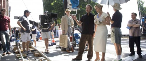 Sam Mendes med Kate Winslet på settet til <em>Revolutionary Road</em>