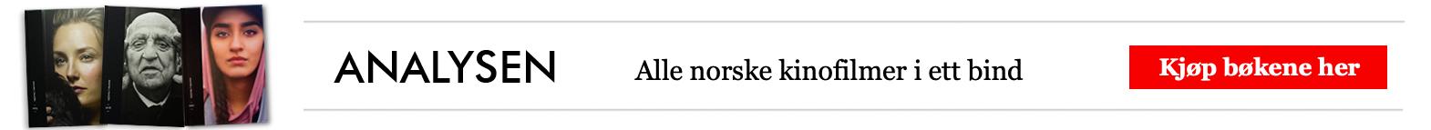 Analysen - Norsk film. Kjæp bøkene! (annonse)