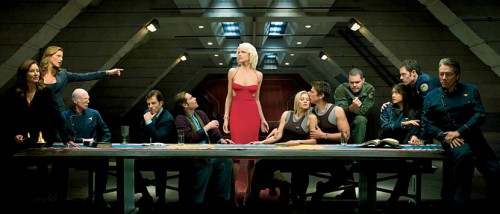 Det mangler ikke på religiøs symbolikk i Battlestar Galactica.